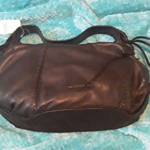 A black and blue purse